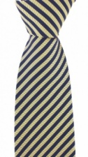 Luxury Golden Brown and Blue Stripe Silk Tie by Soprano